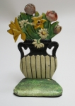 Click to view Daisy and Mixed Flowers in Urn Door Stop photos