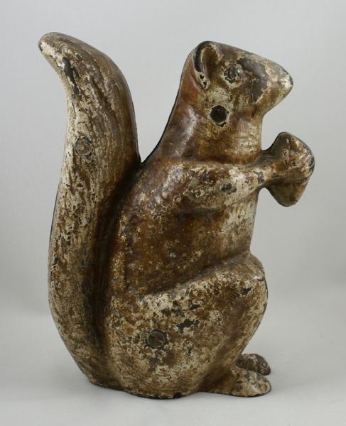 Squirrel w nut door stop door stops doorstops americana doorknockers bookends cast iron - Cast iron squirrel door stop ...