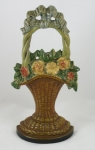Click to view Mixed Flowers in Wicker Basket Door Stop photos