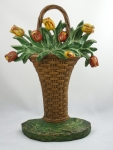 Click to view Large Tulips Hubley Door Stop photos