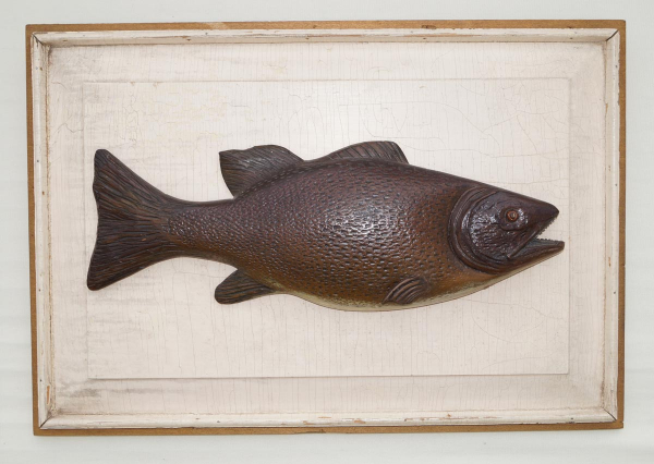 Carved Bass Fish Plaque