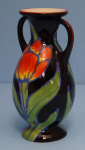 Thumbnail Image: Hand Painted Art Pottery Czech Vase