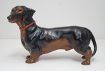 Click to view Dachshund Dog Cast Iron Hubley Doorstop photos