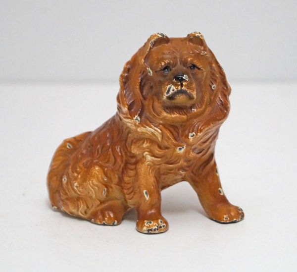 Chow Dog Cast Iron Hubley Paperweight