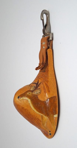 Carved White-Tailed Deer Canoe Cup